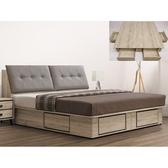 床架 CV-107-6A 伊勢丹6尺床箱型床台組 (床頭+床底)(不含床墊) 【大眾家居舘】