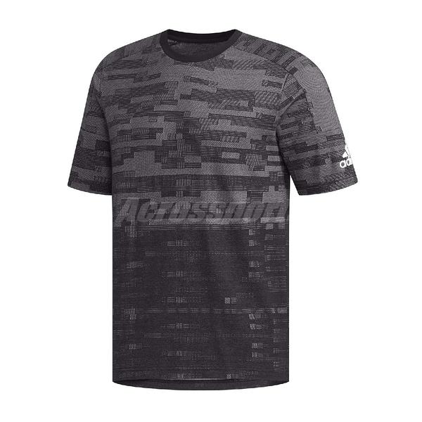 adidas 短袖T恤 SS Tee Knit 灰 黑 男款 常規剪裁 【ACS】 DZ2208
