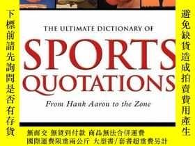 二手書博民逛書店The罕見Ultimate Dictionary of Spor