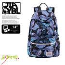 後背包包大容量14吋筆電包韓版防潑水書包彩色世界8309-BL