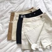 短褲-新款韓版夏季女裝修身高腰褲短褲女學生純色休閒百搭褲裙-奇幻樂園