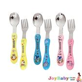 嬰兒餐具卡通不鏽鋼飯勺不鏽鋼湯勺組兩隻-Joybaby