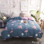 紫羅蘭全棉印花被套單件雙人純棉被罩1.5m/1.8米單人學生宿舍被套 道禾生活館