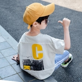 男童短袖T恤 男童短袖t恤2020年夏季兒童體恤韓版7夏裝8中大童9寬
