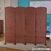 中式屏風客廳臥室經濟型玄關折疊移動現代簡約實木小戶型隔斷裝飾igo 印象家品旗艦店