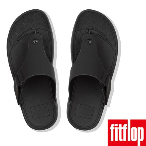【FitFlop】TRAKK II NEOPRENE TOE-THONGS)可調整式魔鬼氈夾腳涼鞋(黑色)