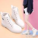 秋冬季女靴子新款英倫風馬丁靴女學生韓版網紅平底短筒短靴女棉靴 可然精品