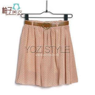 N-520-016夏裝新品日系時尚碎花雪紡綢短裙半身裙子