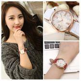 雙12購物節真皮帶女生手錶時尚裝防水品質女款中學生