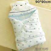 聖誕狂歡新生兒純棉加厚被子抱被嬰兒襁褓被厚抱被90*90cm方形大號棉被【潮咖地帶】