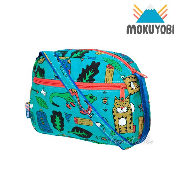 MOKUYOBI / Cali Purse / L.A 空運創意塗鴉戶外輕量斜肩包 - 藍綠色