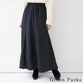 「Winter」菱形點點打褶長裙 - Green Parks