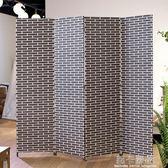屏風隔斷客廳現代簡約 簡易折疊屏風玄關墻 中式實木移動酒店折屏QM 莉卡嚴選