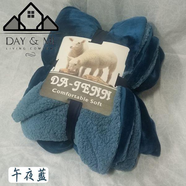 素面頂級法蘭羊羔絨同色毛毯‧多功用雙人毯-茶綠