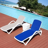 室外游泳池別墅度假休閒塑料陽台戶外酒店內游泳館躺床 沙灘躺椅 WD 雙十二全館免運
