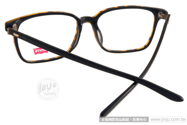 LEVIS 光學眼鏡 LS06416 DEMI (琥珀-黑) 青春時尚方框款 # 金橘眼鏡
