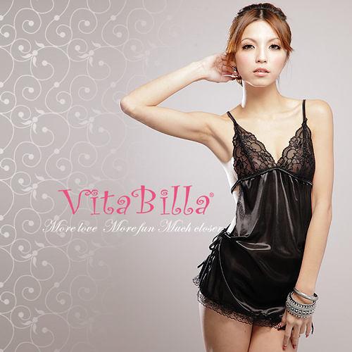 【伊莉婷】VitaBilla 魔幻情人 LUCKMATE 時尚女王 睡裙+小褲 二件組