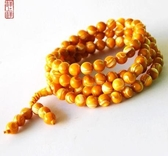 黃金硨磲手鏈108顆佛珠項鏈女款飾品