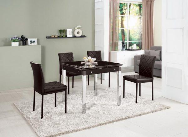 {{8號店鋪 森寶藝品傢俱}} a-01 品味生活 餐椅系列    986-1 邁克爾方形玻璃折桌