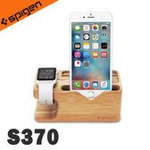 韓國 環保木質手機支架 iPhone+Apple Watch Spigen S370《Life Beauty》