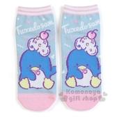 〔小禮堂〕山姆企鵝 成人及踝襪《粉藍.櫻桃奶油》短襪.隱形襪.23-25公分 4901610-59596