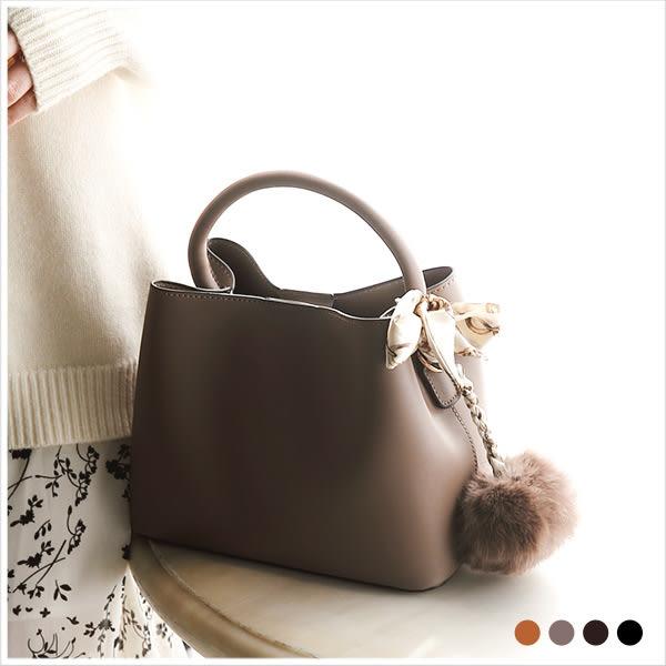 子母包-簡約光澤感皮革手提/斜背包-共4色-A17172617-天藍小舖