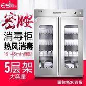 密胺餐具消毒櫃熱風循環商用立式大容量雙對開門大型廚房保潔碗櫃igo 圖拉斯3C百貨