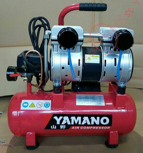 YAMANO 山野牌 2.5HP 9L 靜音 無油 直接式空壓機(約48秒)