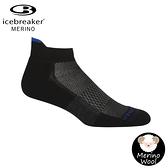 【Icebreaker 男 薄毛圈多功能運動踝襪《黑/藍》】105129/快乾機能襪/排汗襪/羊毛襪