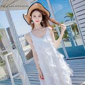 沙灘裙馬爾代夫巴厘島普吉島泰國海邊度假長裙女洋裝夏吊帶超仙 米蘭潮鞋館