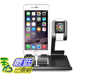 [105美國直購] 蘋果底座 iComboStand Apple Watch Stand and iPhone Cradle Dual 2 in 1 Dock Station Silver B015VBTN46