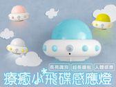 【G1202】 wei-ni 人體飛碟感應燈 飛碟人體感應燈 玄關燈 可愛燈 創意小物 交換禮物 飛碟小夜燈