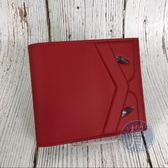 BRAND楓月 FENDI 芬迪 7M0169 紅怪獸 二折 短夾 皮夾 錢包