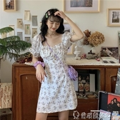 碎花連身裙 夏天碎花連身裙女年夏季法式氣質短款顯瘦收腰小個子裙 爾碩