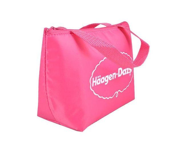 haagen dazs 粉紅冰淇淋 保冷保溫便當袋(小)