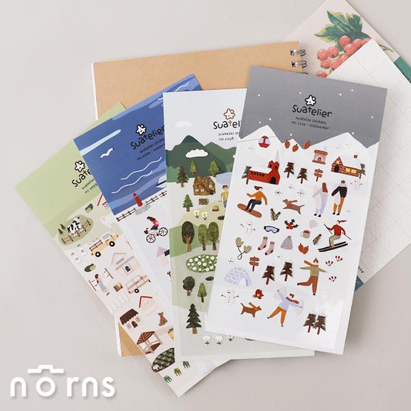 Suatelier stickers outdoor系列- Norns 韓國手作 手帳貼紙 森林田園