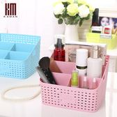 化妝品收納盒辦公桌面塑料大號文具儲物護膚品梳妝台置物架WY