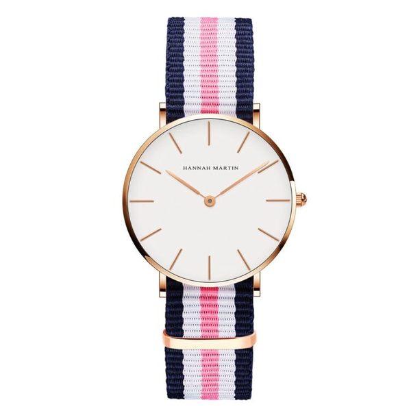 女士時尚款簡約包豪斯白色皮帶石英學生防水手錶女錶《小師妹》yw125