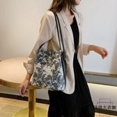 單肩包蕾絲手提包購物袋鏤空沙灘包刺繡手袋包【時尚大衣櫥】