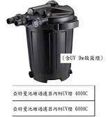 台中水族} 亞特曼 池塘/魚池過濾器 內附UV殺菌燈-(10000--15000L/H) -不含馬達 特價