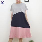 【秋冬新品】American Bluedeer -三色剪接洋裝 二色