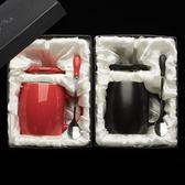 禮盒裝馬克杯 創意復古簡約帶蓋勺大容量情侶辦公室咖啡茶杯 YY4783『東京衣社』