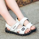 全館免運八折促銷-男童涼鞋兒童2018新款正韓夏季皮質中大童小學生男童鞋男孩寶寶鞋