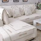 四季全棉沙發墊布藝簡約現代實木純棉皮沙發坐墊冬沙發套巾