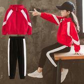 女童秋裝套裝2018新款韓版潮衣中大兒童春秋季運動洋氣衛衣兩件套