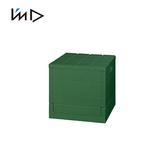 【 岩谷Iwatani 】Grid 格子磚可堆疊摺疊收納椅20L 綠