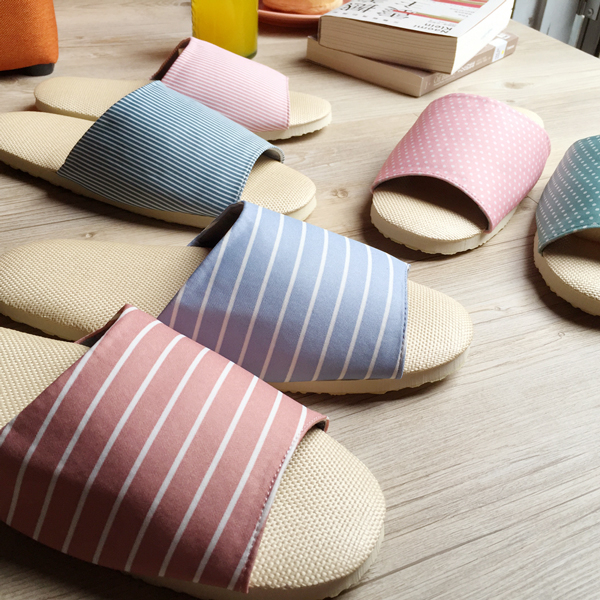 台灣製造-療癒系-舒活草蓆室內拖鞋-2雙任選優惠組