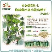 【綠藝家】大包裝G25-1.綠精靈水果小黃瓜種子1.5克(約60顆)(小胡瓜)