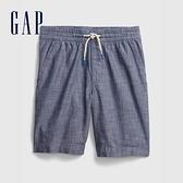 Gap男童 柔軟舒適仿牛仔布短褲 682041-藍色