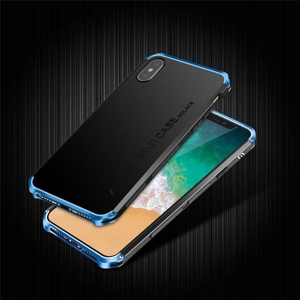 蘋果 X Xs Xs Max XR 金屬手機殼 SOLACE TPU 金屬邊框 個性創意保護套